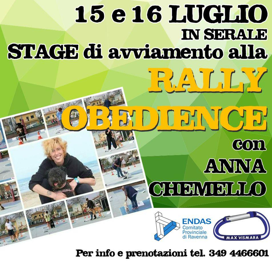 Stage Rally Obedience Ravenna con Anna Chemello e Max Vismara